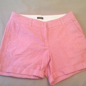 J.Crew pink cuffed shorts-size 0 -100% cotton